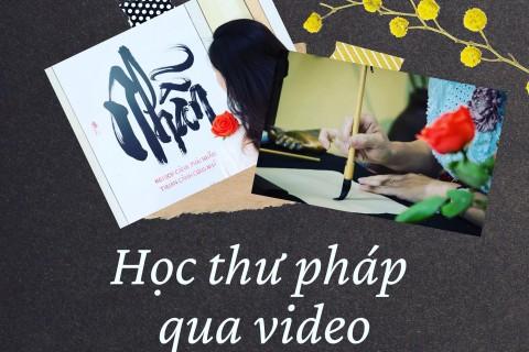 Học thư pháp qua video
